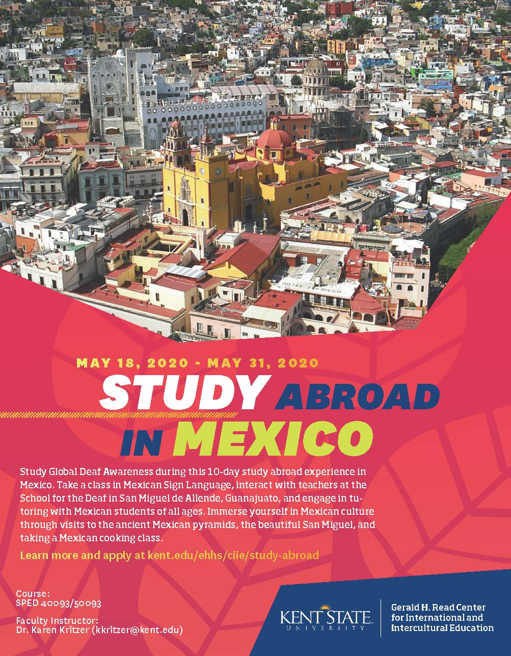 Mexico Study Abroad Flyer