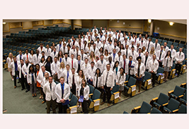 Kent State University's College of Podiatric Medicine welcomed its Class of 2018  with a White Coat Ceremony on Aug. 2 in the University Auditorium at Cartwright Hall on the Kent Campus.