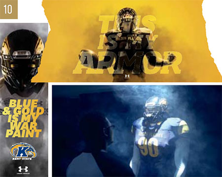 Kent State University won a gold ADDY for the Kent State Football Rebrand.