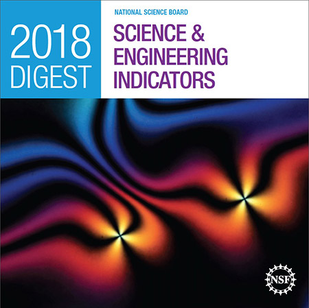 An image provided by Kent State's Oleg Lavrentovich is featured on the cover of the National Science Board's Science and Engineering Indicators 2018 Digest.