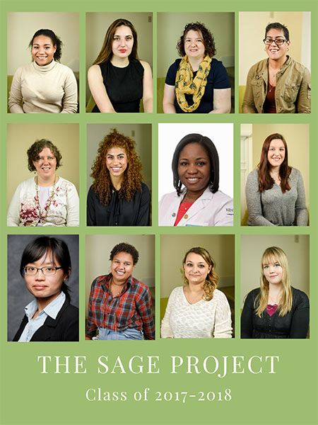 The SAGE Project recognizes female students who have demonstrated innovation, creativity, risk-taking and leadership skills in their academic and personal lives.