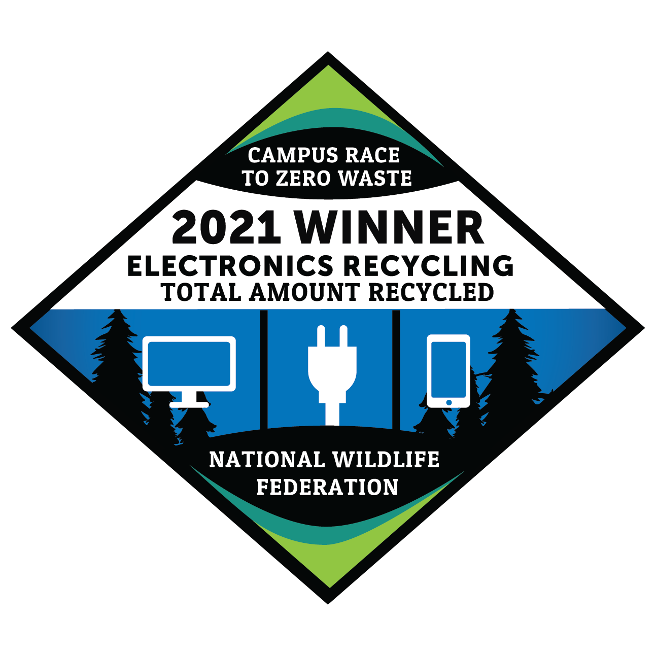 Kent State won the Campus Race to Zero Waste Electronics Recycling Award