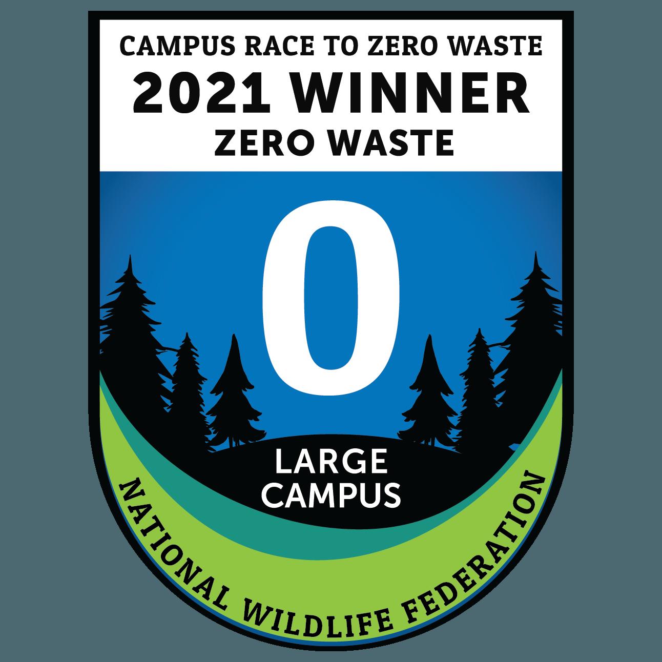 Kent State won the Campus Race to Zero Waste Large Campus Award