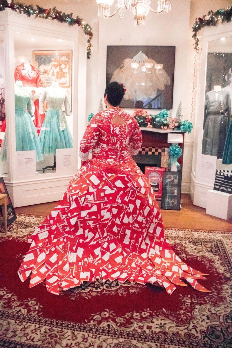 Akron resident Joanna Wilson poses in her Netflix dress