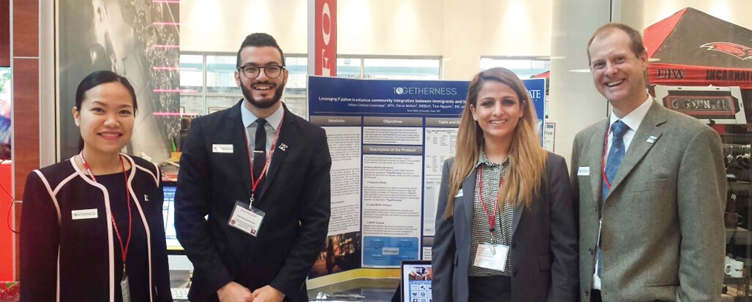 first-place-winning team from Kent State's College of Public Health