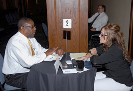 The Supplier Diversity Program hosted a business matchmaker workshop to connect entrepreneurs with architects, project managers and procurement staff to showcase current university opportunities.