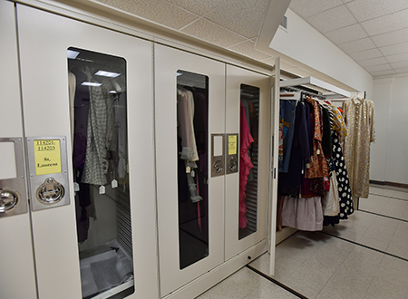 Pictured is the Kent State University Museum's storage area.