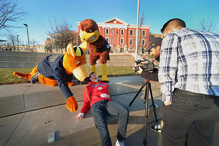 Kent State University and the University of Akron explain the origins of the Flash and Zippy rivalry.