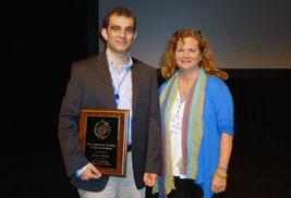 Kent State College of Podiatric Medicine Assistant Professor Metin Yavuz, D.Eng, and Jill McNitt-Gray, Ph.D., past president of the American Society of Biomechanics.