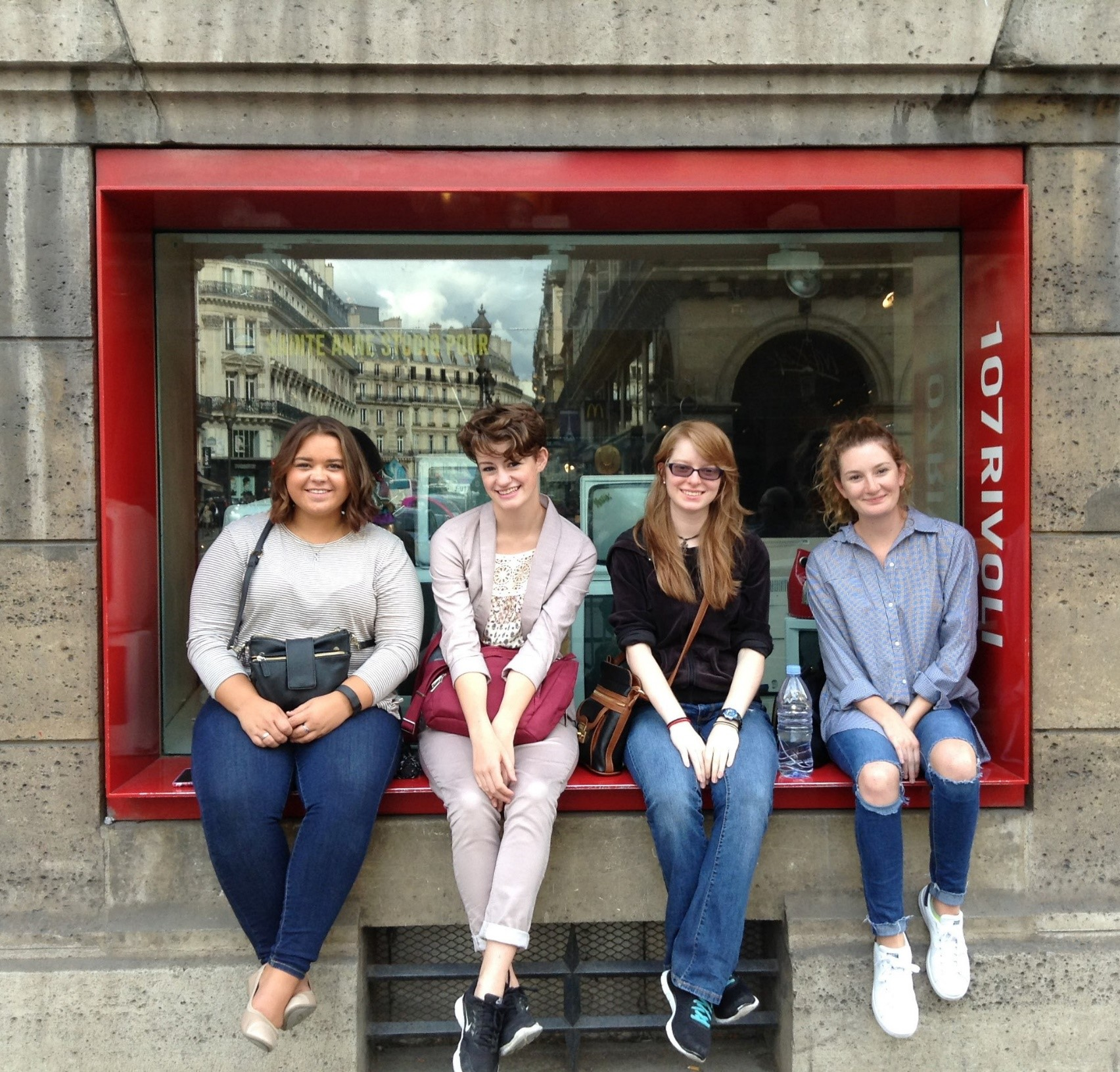 Four students in the Paris American Academy program.