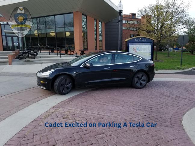 Cadet Parking Special Event Tesla