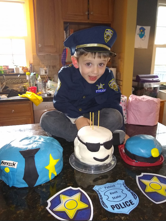 Patrick might only be 4, but he already knows he wants to be a Kent State police officer someday
