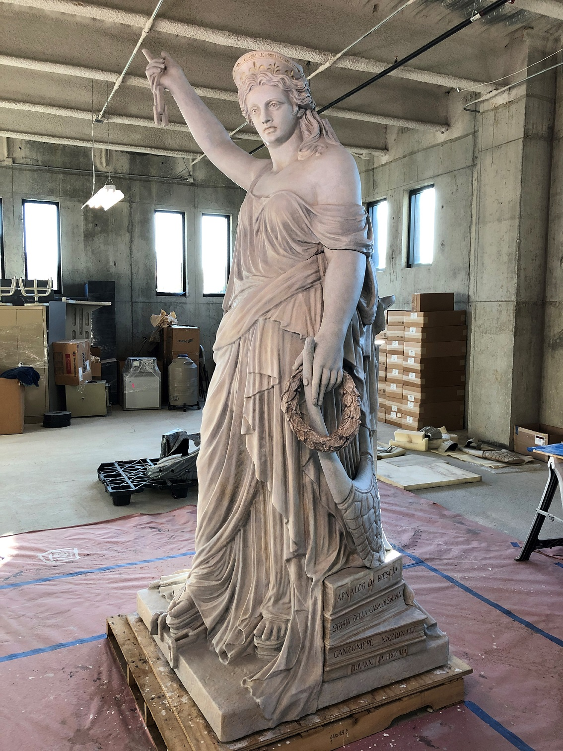 The 3D-printed replica of the Liberty of Poetry statue being created by Kent State University will enable visitors to see the Italian predecessor to the U.S. Statue of Liberty located directly across Ellis Island to Liberty Island.