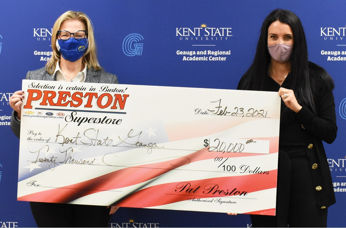 Angela Spalsbury and Jackie Preston Check Presentation