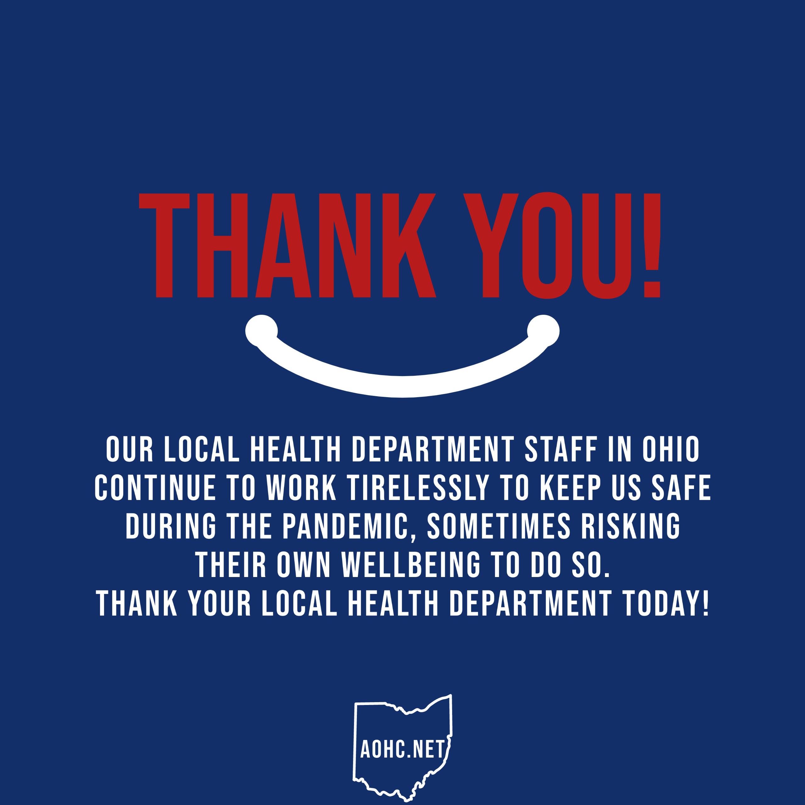 Thank Health Department