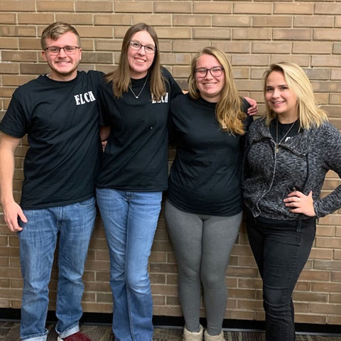 Second place Quiz Bowl team members