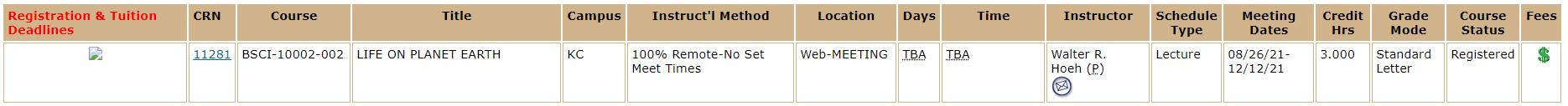 100% Remote-No Set Meet Times sample