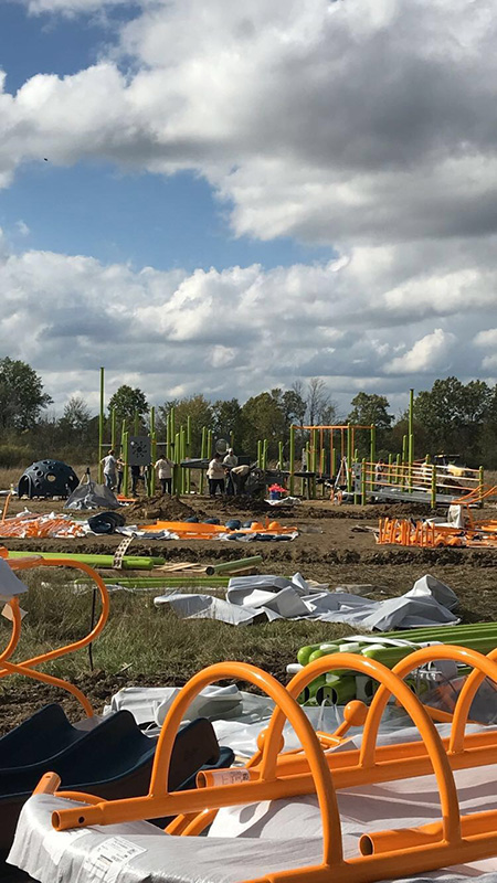 Kent State East Liverpool students help to build an all-inclusive recreational facility designed for those with special needs.