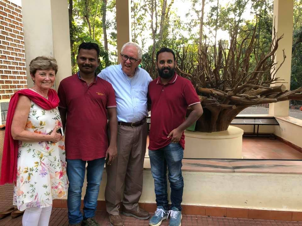 Picture of David and Janet dix with Riyas