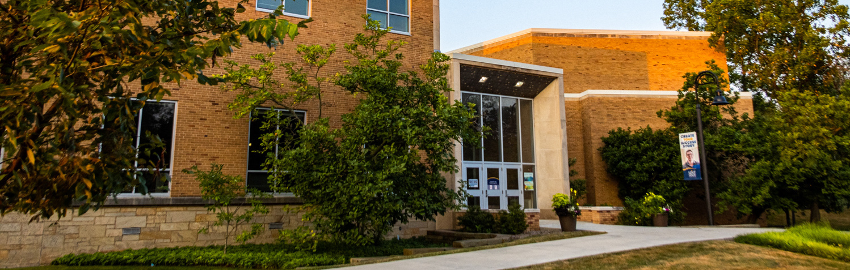 Glauser School Exterior Sunrise 2 | Photo Credit: Andrew Paa