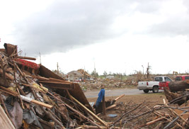 Kent State Professor and Student Travel to Tornado-Stricken Moore, Okla., to Survey Damage