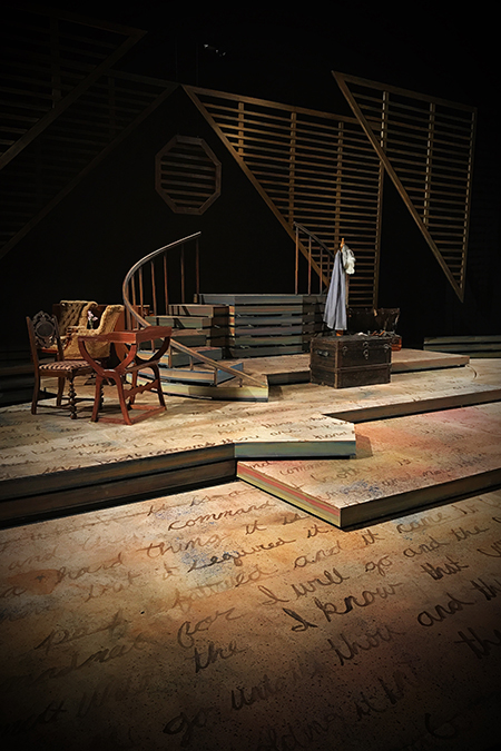 Kent State University graduate scenic design student Patrick Ulrich designed the entire set for Kent State's Little Women the Musical.