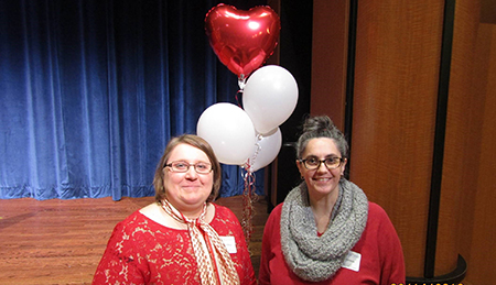 Kent State's Jennifer Miller and Amy Miracle shared their health scare stories with other women at the Women's Heart Health Luncheon.