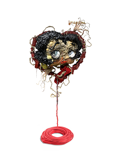 I am a goddess, any questions? by Jacob Sagan, a sculpture featuring Betty Boop