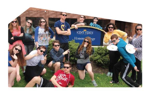 Freshman Honors Colloquium Group Black Sunglasses