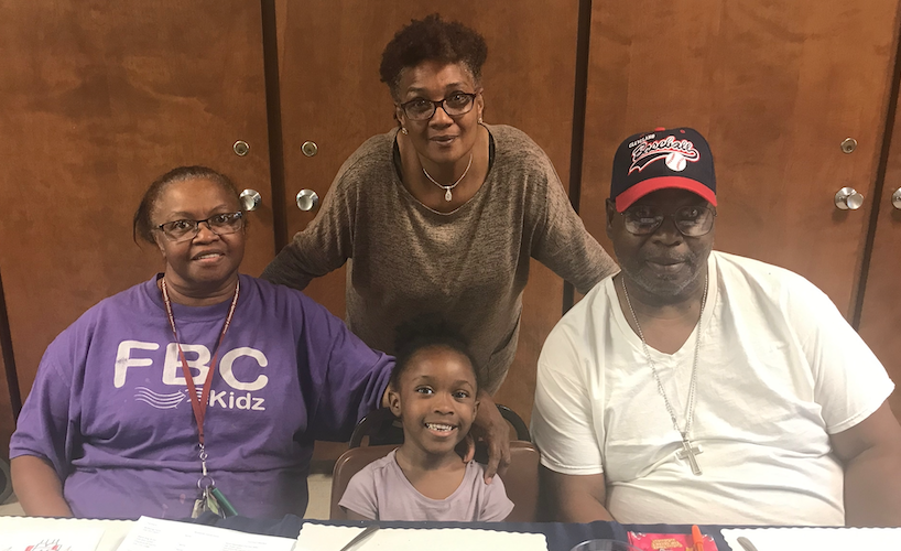 Pictured from left to right are Patricia Taylor, Afenia Daniels (seated), Shenita Glaze and Victor Taylor.