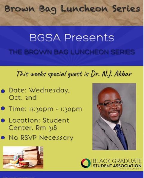 BGSA Brown Bag Luncheon Flyer