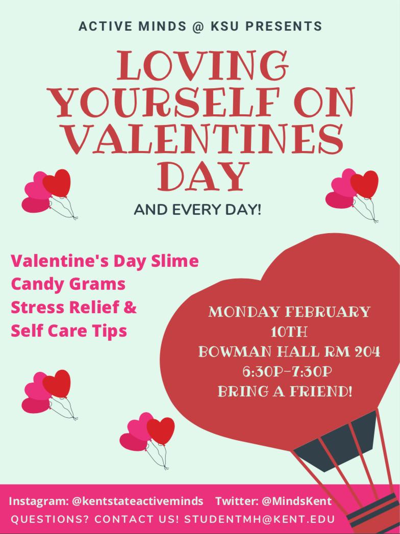 Active Minds Valentine Day Flyer
