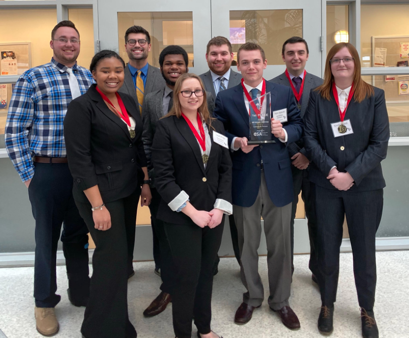 Construction Management students after competition win