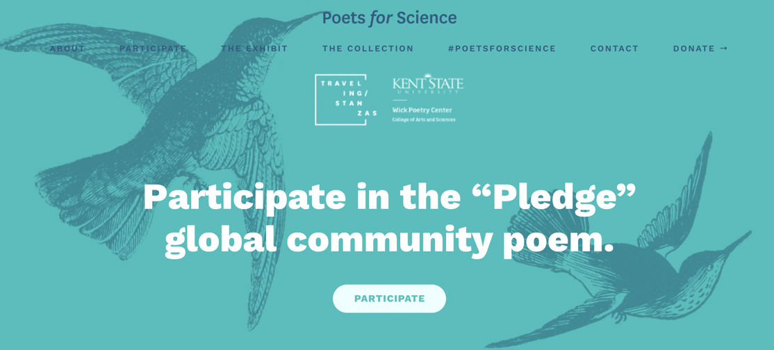 "Participate in the ""Pledge"" global community poem."