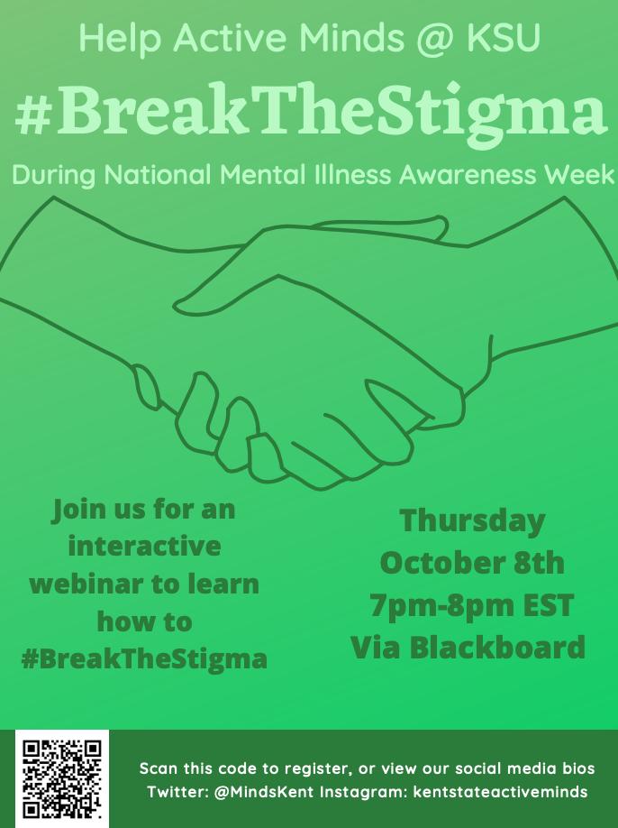 Break the Stigma event poster