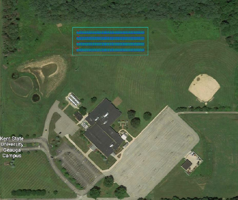 Solar panel location at Kent State Geauga