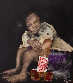 Fally Sene Sow (b. 1989, Dakar) Talibé dans le noir, 2018