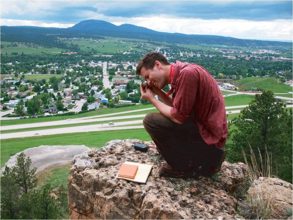 Student works near Spearfish, South Dakota