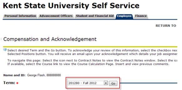 Step 6 Select Term Screenshot