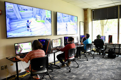 Students show off their skills through interactive technology opportunities at the Stress-Free Zone.