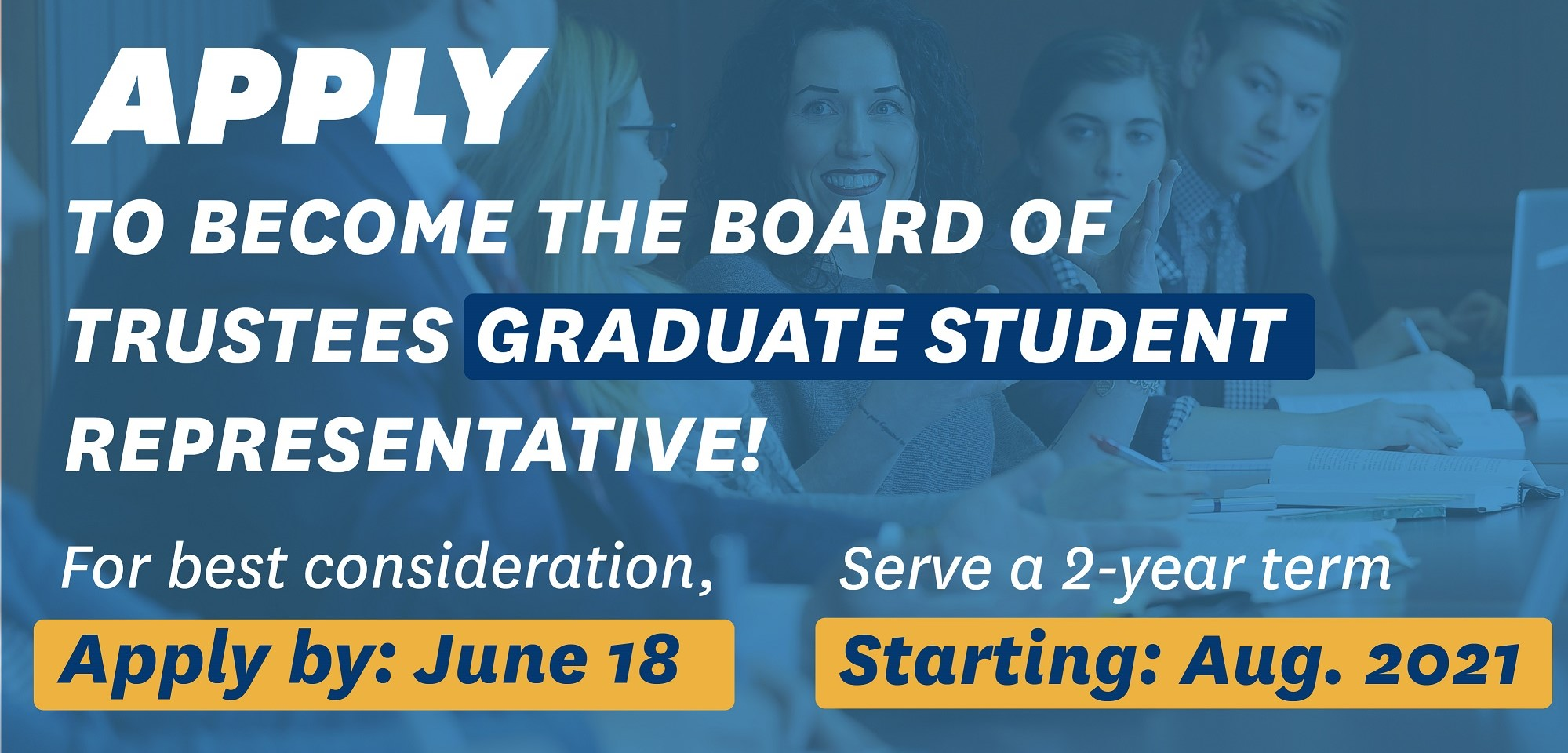 Grad Student Trustee Application Image