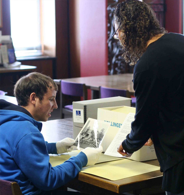 Student Using archival materials