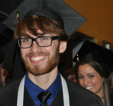 Students walking during graduation