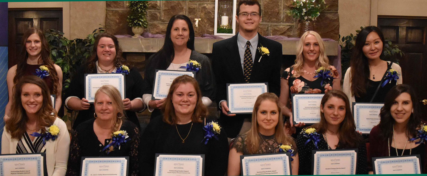 Students honored at the Kent State East Liverpool Wall of Fame dinner