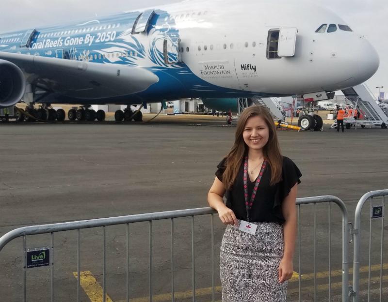 Aerospace Engineering student, Sydney Bihn