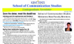 October 2013 Communication Studies Undergraduate Newsletter
