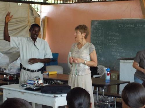 Brooke teaches nursing students about family planning