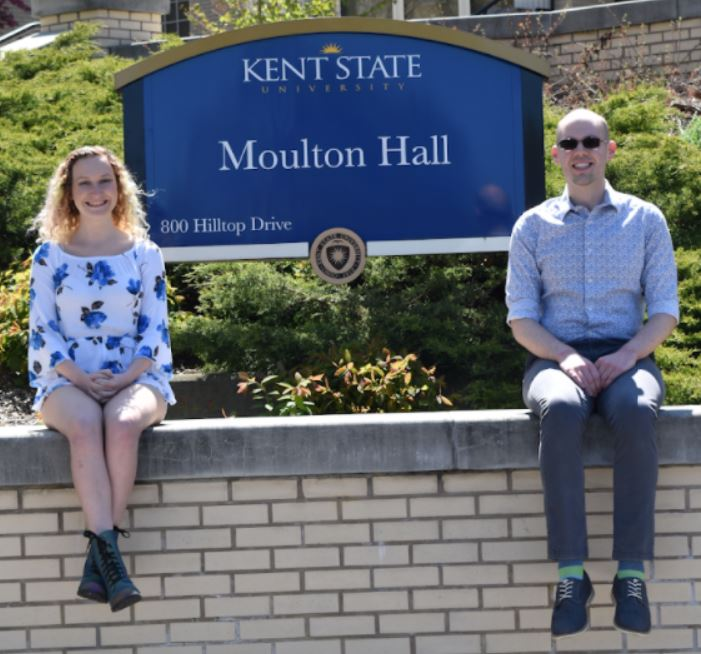 Photo of the two undergraduate award recipients mentioned in this article