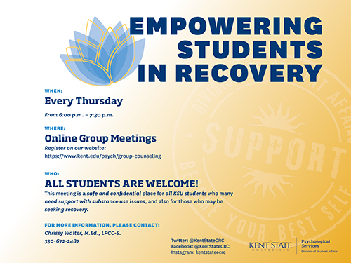 EMPOWERING STUDENTS IN RECOVERY Flyer