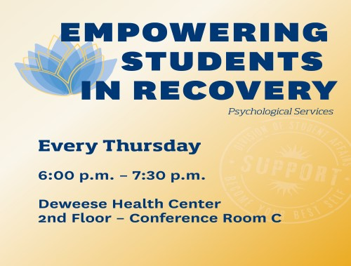 Empowing Students in Recovery Schedule